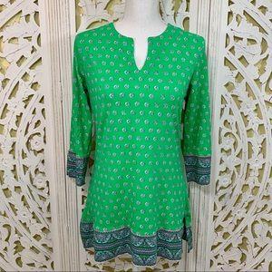 Coolibar Green Patterned Jersey Tunic UPF 50+